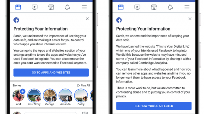 How to check if Facebook shared your data