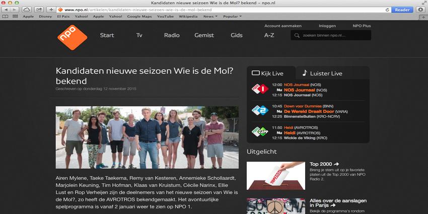 Nederlandse TV vanuit het Buitenland